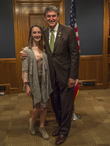Bella with Senator Manchin