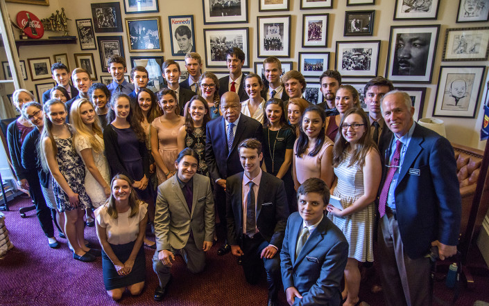 Mount Madonna students with Congressman John Lewis